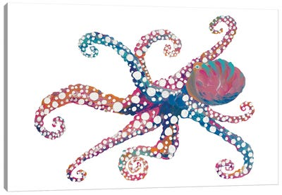 Dotted Octopus II Canvas Art Print