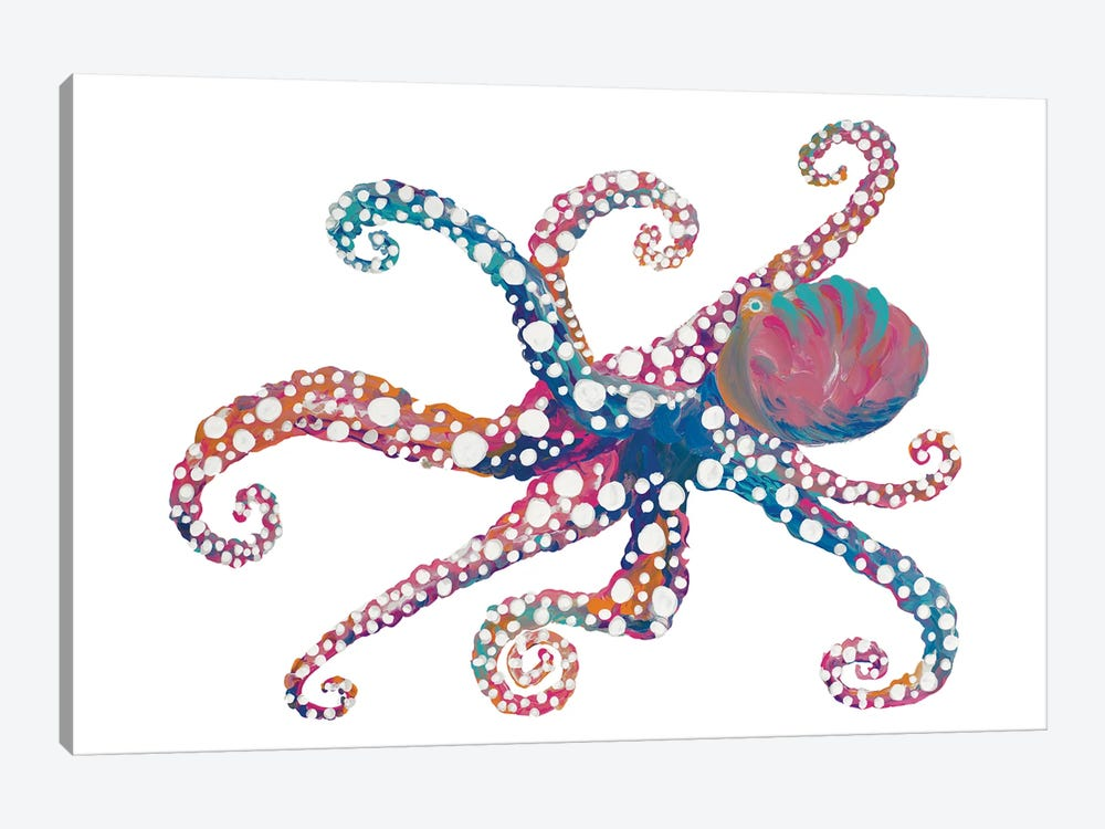 Dotted Octopus II by Gina Ritter 1-piece Canvas Art Print