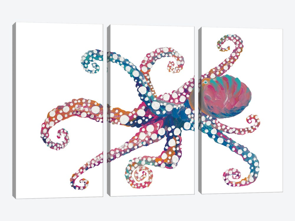 Dotted Octopus II by Gina Ritter 3-piece Art Print