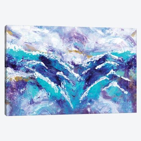 Ocean Waves Canvas Print #RTR43} by Gina Ritter Canvas Art Print