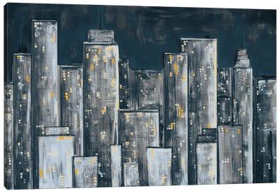 City Eclipse Canvas Art Print