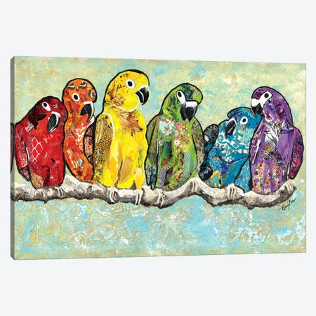 Flock of Colors Canvas Print #RTR4} by Gina Ritter Canvas Print