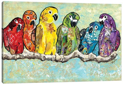 Flock of Colors Canvas Art Print