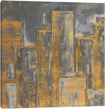 Gold City Eclipse Square I Canvas Art Print