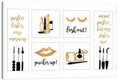 Makeup Quotes II Canvas Art Print