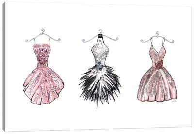 Sparkling Dress Trio Canvas Art Print