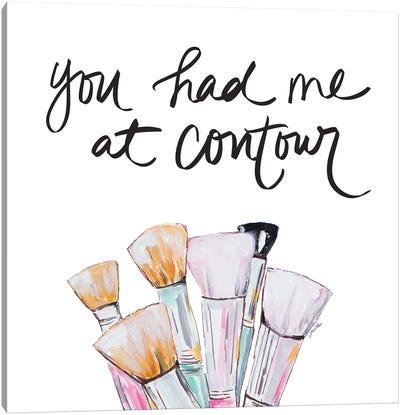 You Had Me At Contour Canvas Art Print