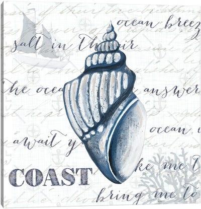 Indigo Shell IV Canvas Art Print