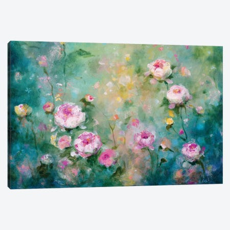 Peony Garden Canvas Print #RTZ10} by Kathleen Rietz Canvas Art