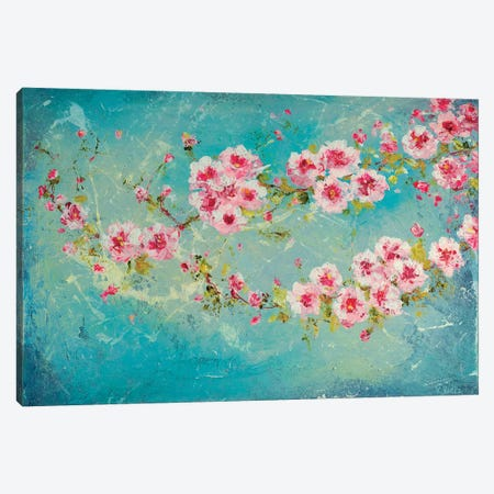 Pink Cherry Blossoms Canvas Print #RTZ23} by Kathleen Rietz Art Print