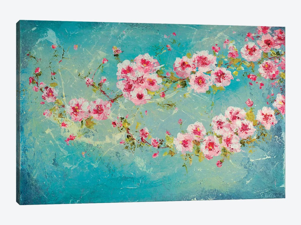 Pink Cherry Blossoms by Kathleen Rietz 1-piece Canvas Print