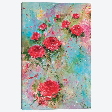 Rose Retreat Canvas Print #RTZ24} by Kathleen Rietz Canvas Art