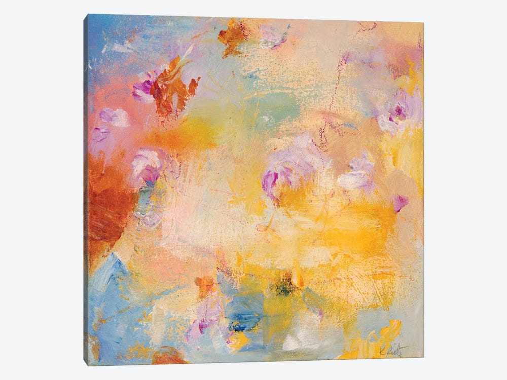 Sand And Petals by Kathleen Rietz 1-piece Canvas Art Print
