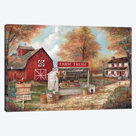 Farm Fresh Canvas Print #RUA101} by Ruane Manning Art Print