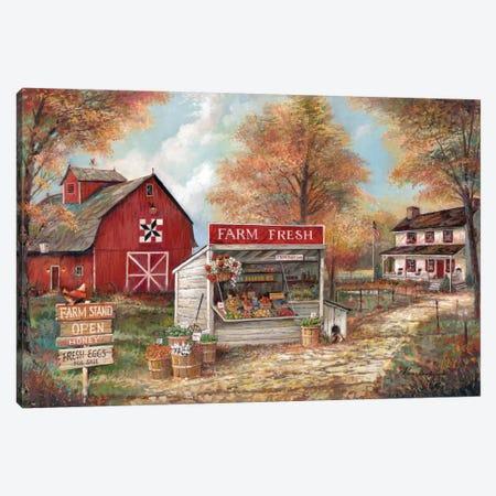 Farm Fresh Canvas Print #RUA101} by Ruane Manning Art Print