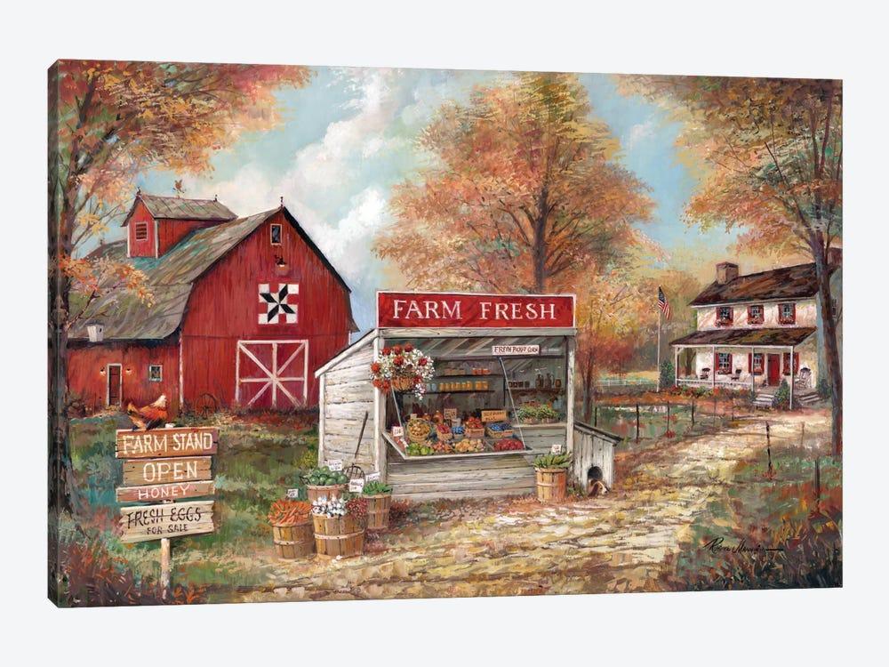 Farm Fresh by Ruane Manning 1-piece Canvas Artwork