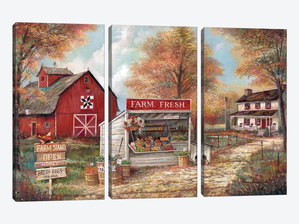 Farm Fresh by Ruane Manning 3-piece Canvas Art