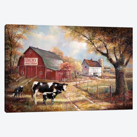 Memories On The Farm Canvas Print #RUA103} by Ruane Manning Canvas Art Print