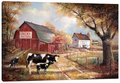 Memories On The Farm Canvas Art Print