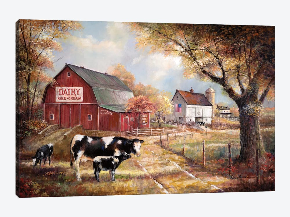 Memories On The Farm by Ruane Manning 1-piece Canvas Artwork
