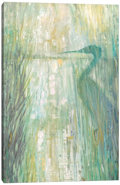 Morning Egret II Canvas Art Print