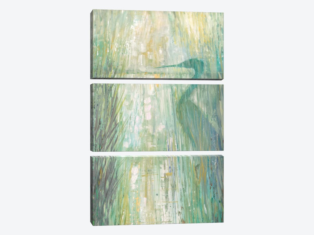 Morning Egret II by Ruane Manning 3-piece Canvas Artwork