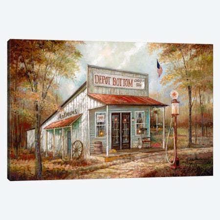 Depot Bottom Canvas Print #RUA108} by Ruane Manning Canvas Art Print