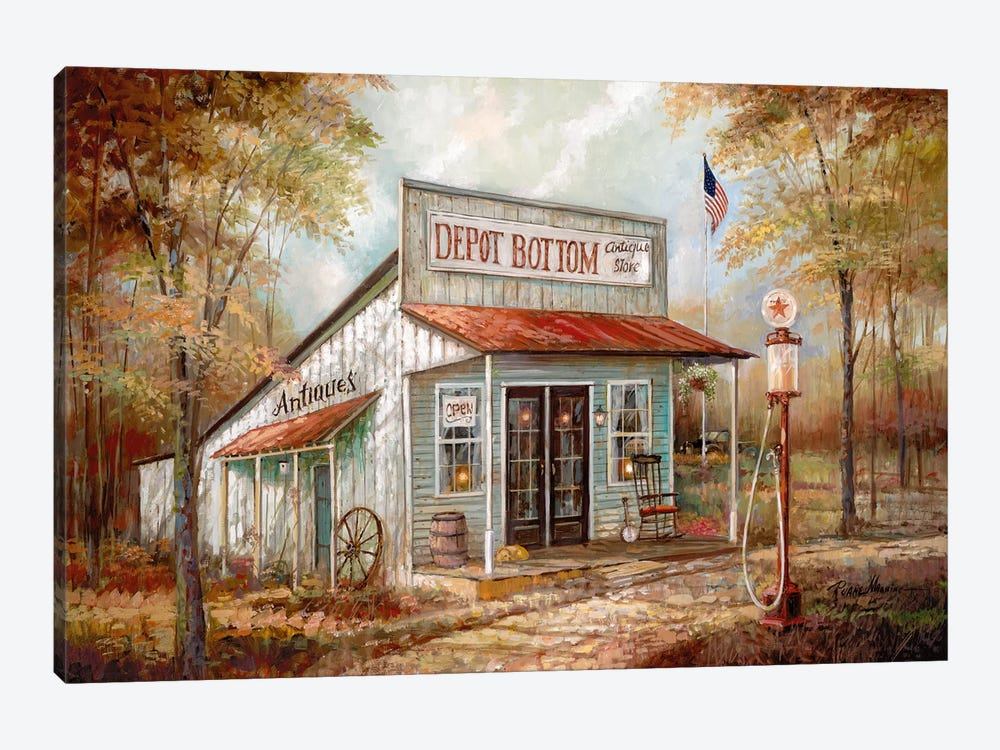 Depot Bottom by Ruane Manning 1-piece Canvas Print