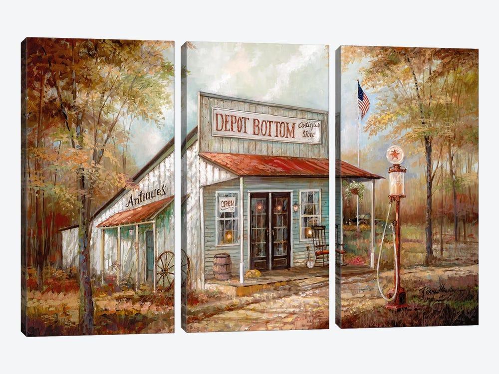 Depot Bottom by Ruane Manning 3-piece Art Print