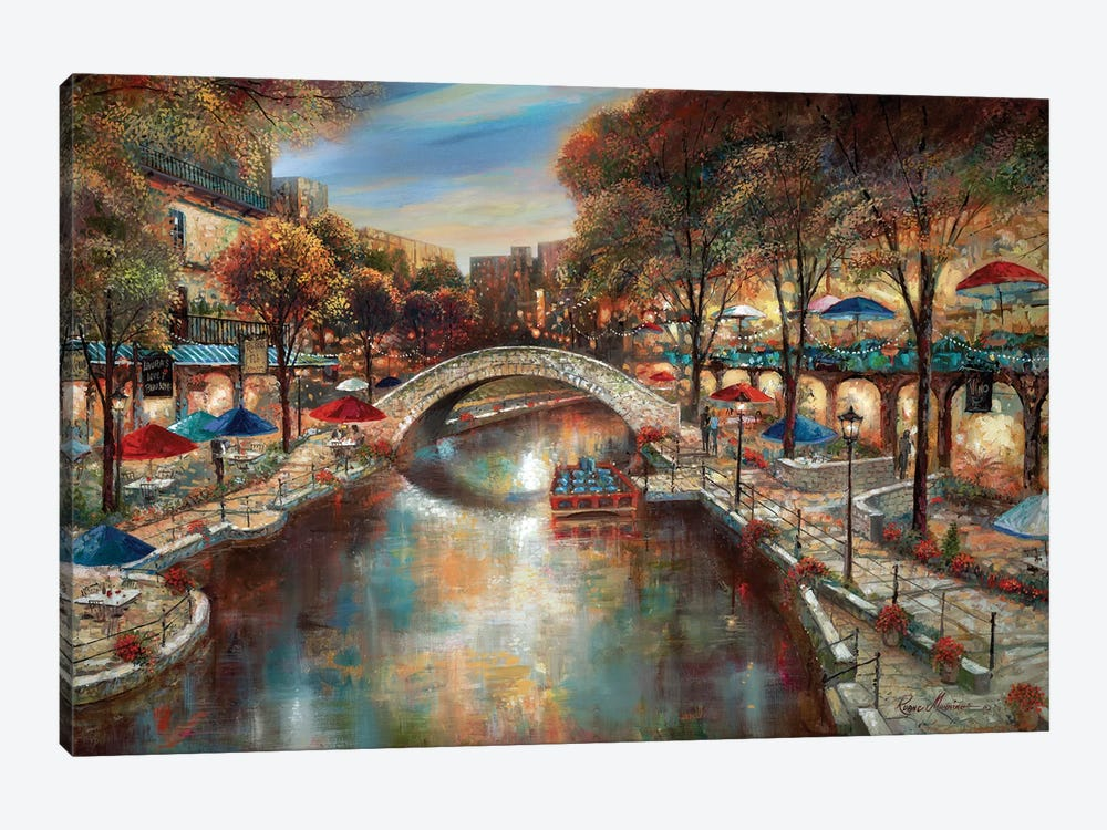 Evening On The Canal by Ruane Manning 1-piece Canvas Art