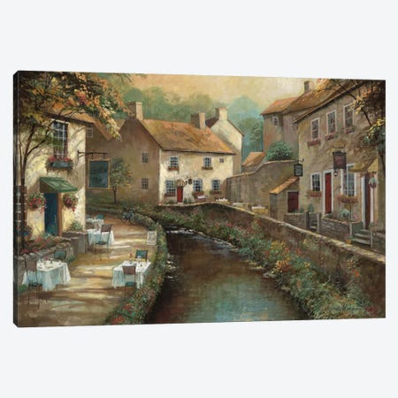 Bill's Pub Canvas Print #RUA10} by Ruane Manning Canvas Wall Art