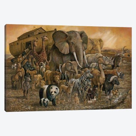 Noah's Ark Canvas Print #RUA112} by Ruane Manning Canvas Artwork