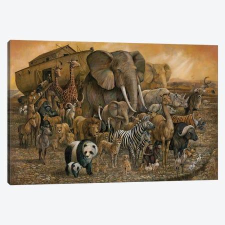 Noah's Ark Canvas Print #RUA112} by Ruane Manning Canvas Artwork