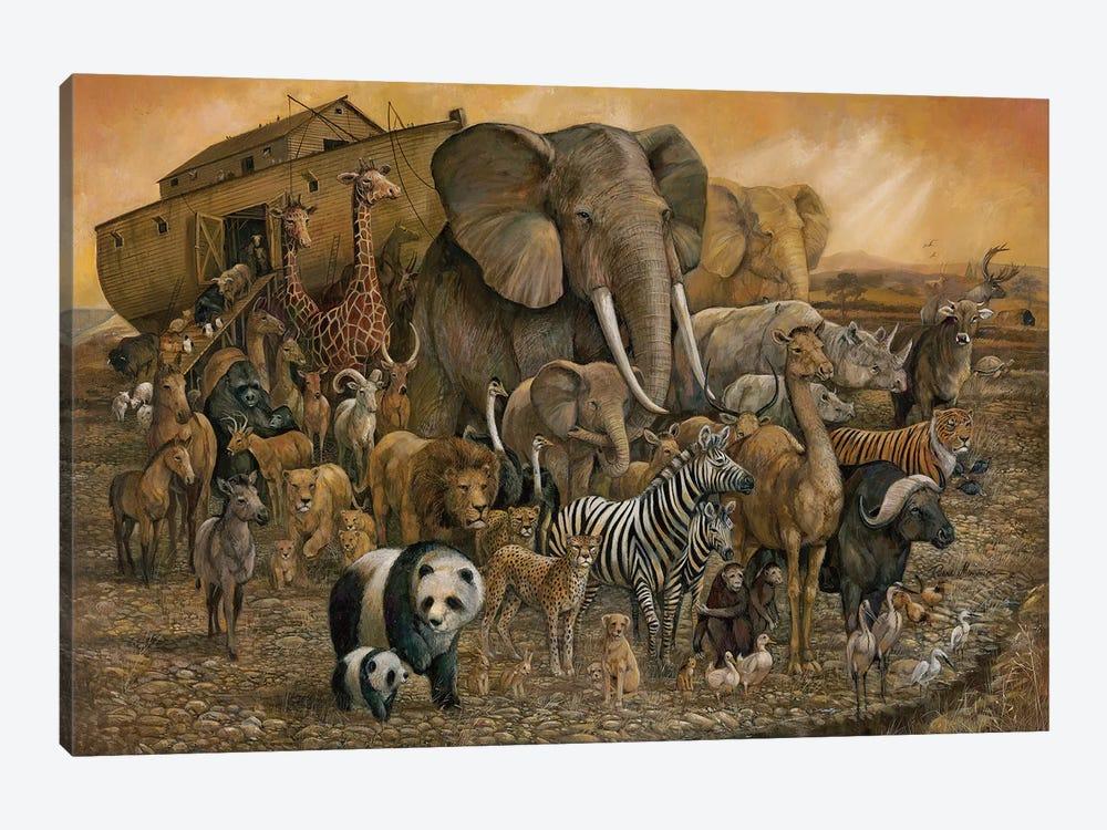 Noah's Ark by Ruane Manning 1-piece Canvas Art