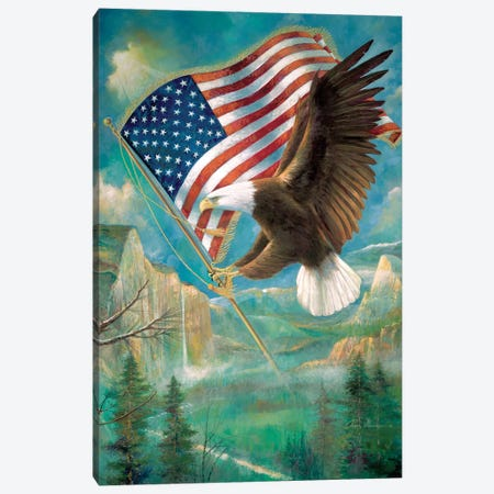 Pledge Of Allegiance Canvas Print #RUA113} by Ruane Manning Canvas Artwork