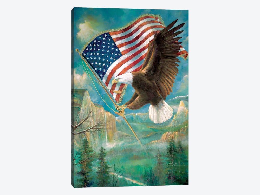 Pledge Of Allegiance by Ruane Manning 1-piece Canvas Print