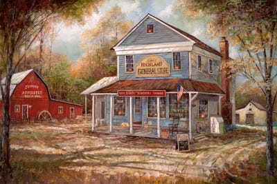 Richland General Store Canvas Art Print By Ruane Manning