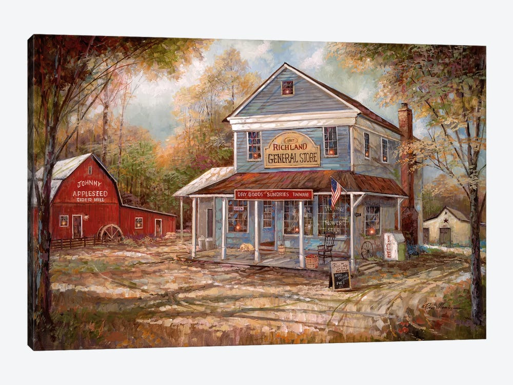 Richland General Store by Ruane Manning 1-piece Canvas Wall Art