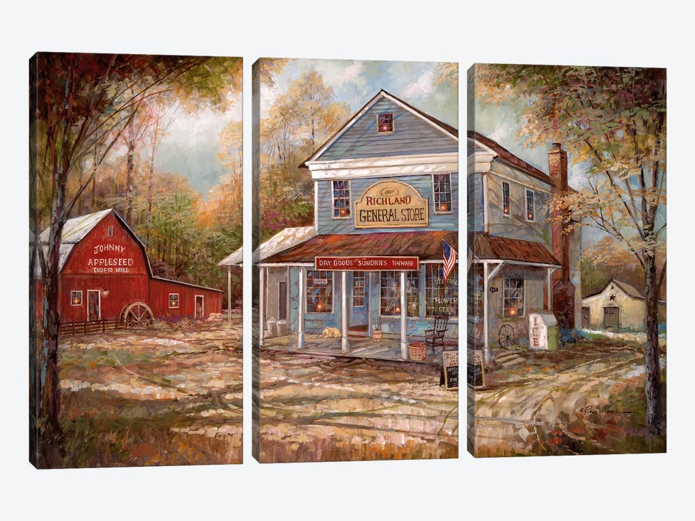 Richland General Store by Ruane Manning 3-piece Canvas Wall Art