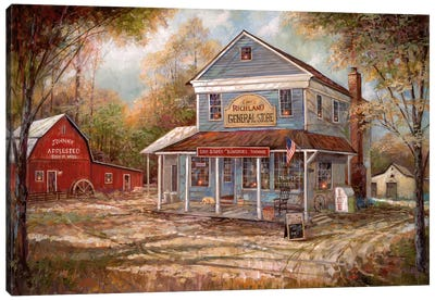 Richland General Store Canvas Art Print