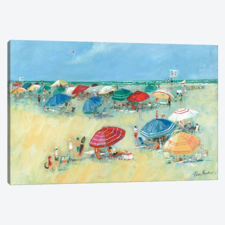 The Shore I Canvas Print #RUA116} by Ruane Manning Canvas Art Print