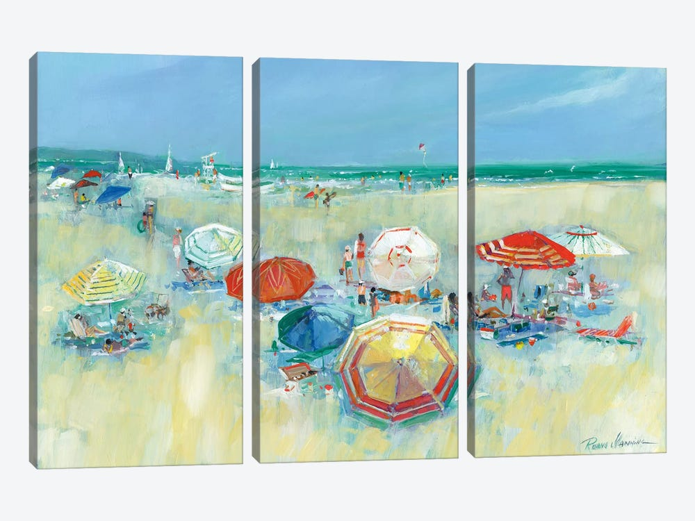 The Shore II by Ruane Manning 3-piece Canvas Print