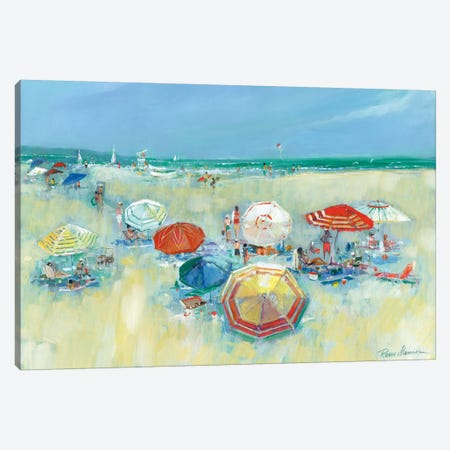 The Shore II 3-Piece Canvas #RUA117} by Ruane Manning Art Print