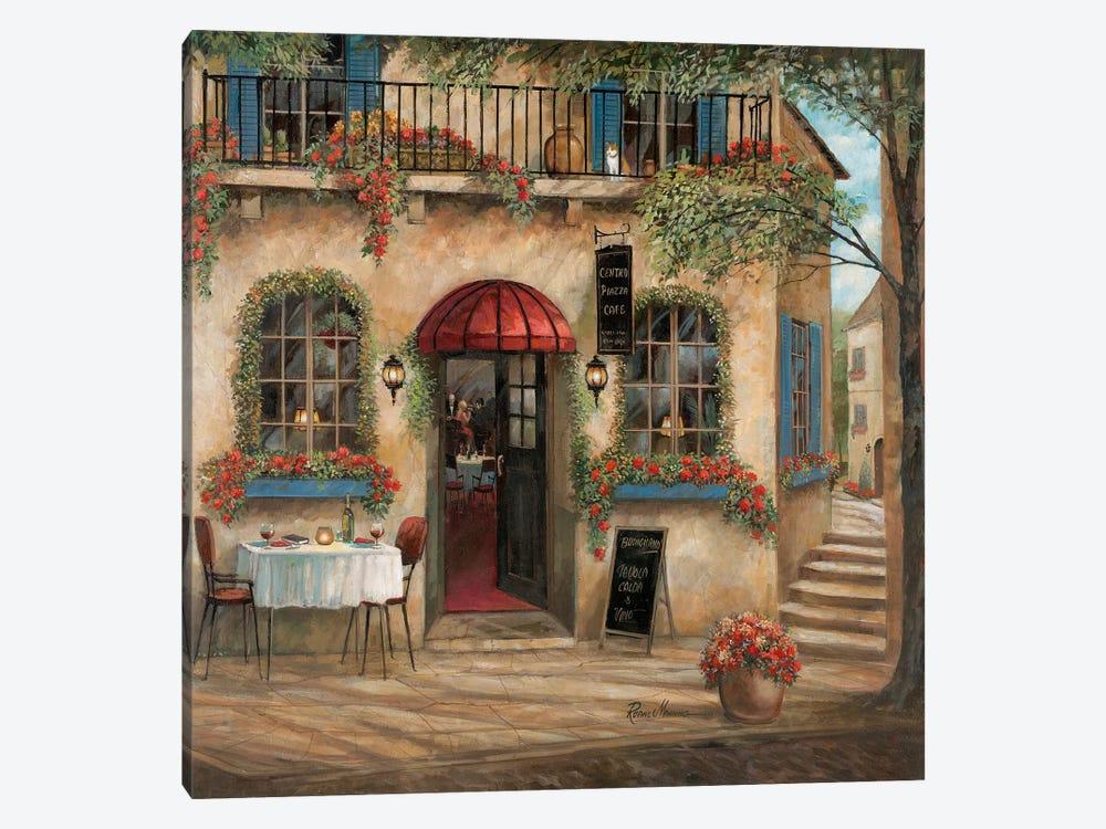 Centro Piazza Café By Ruane Manning 1 Piece Canvas Artwork