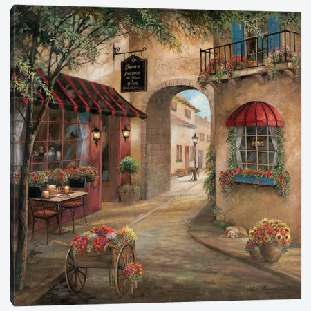 Gino's Pizzaria Detail Canvas Print #RUA119} by Ruane Manning Canvas Art