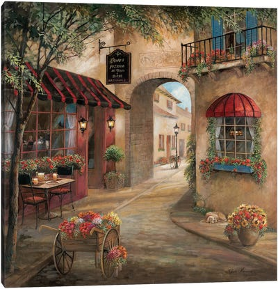 Gino's Pizzaria Detail Canvas Art Print