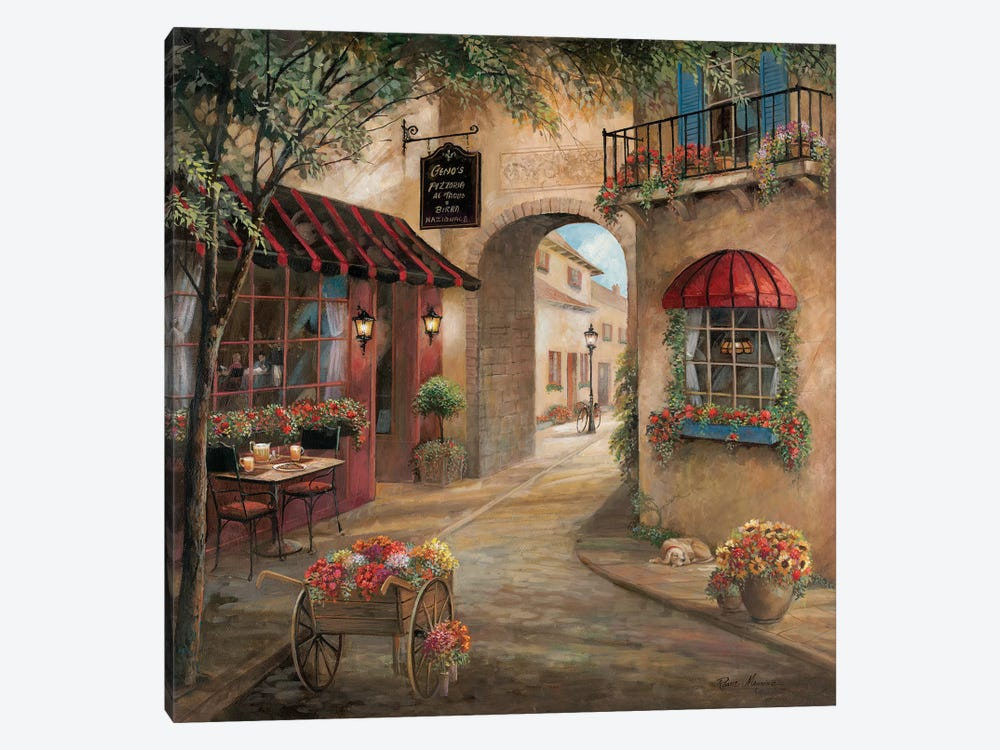 Gino's Pizzaria Detail by Ruane Manning 1-piece Canvas Art Print