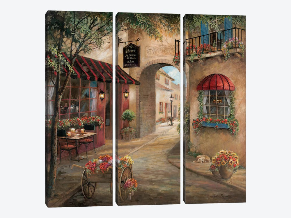 Gino's Pizzaria Detail by Ruane Manning 3-piece Canvas Art Print