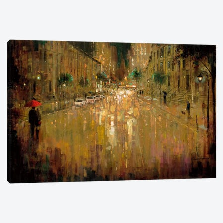 Brownstone Romance Canvas Print #RUA11} by Ruane Manning Canvas Wall Art
