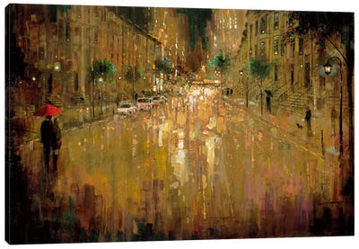 Brownstone Romance Canvas Art Print